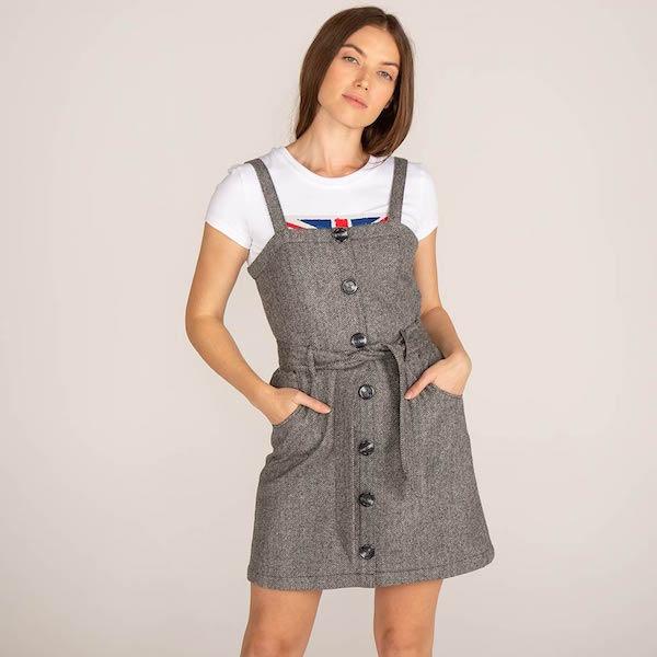 Mia Pinafore Dress